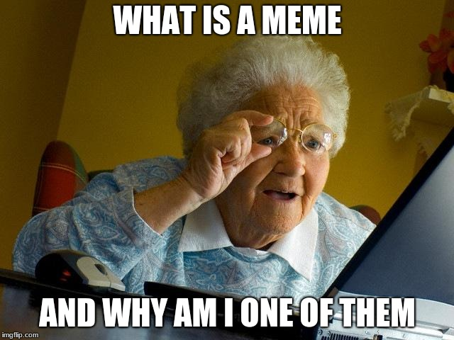 Grandma Finds The Internet Meme | WHAT IS A MEME AND WHY AM I ONE OF THEM | image tagged in memes,grandma finds the internet | made w/ Imgflip meme maker