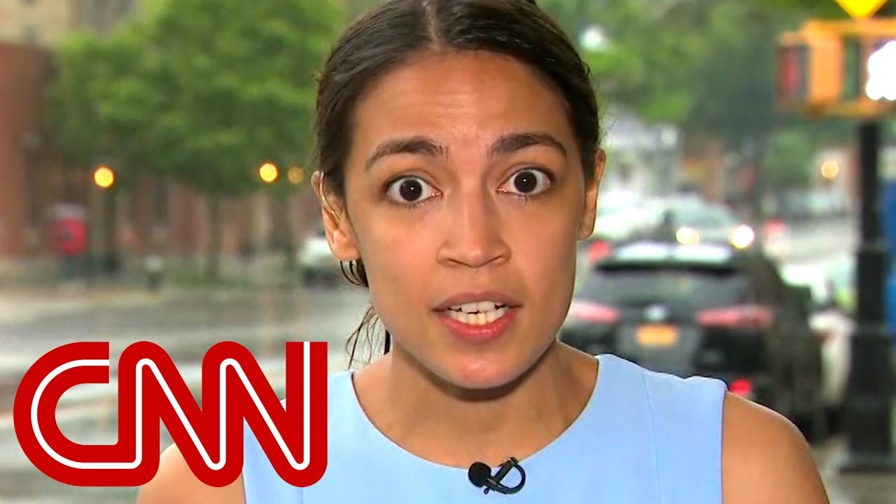 High Quality Occasio Cortez on CNN Blank Meme Template