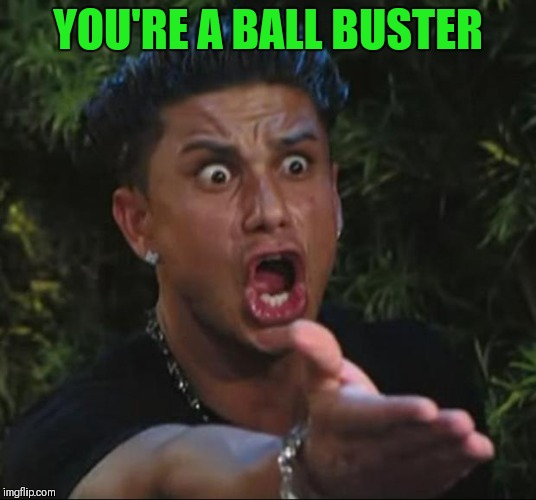 DJ Pauly D Meme | YOU'RE A BALL BUSTER | image tagged in memes,dj pauly d | made w/ Imgflip meme maker