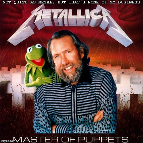 HenryKrinkle presents: Alternate Album Covers #0001 | NOT QUITE AS METAL, BUT THAT'S NONE OF MY BUSINESS | image tagged in metallica,muppets,jim henson,album covers,heavy metal,master of puppets | made w/ Imgflip meme maker
