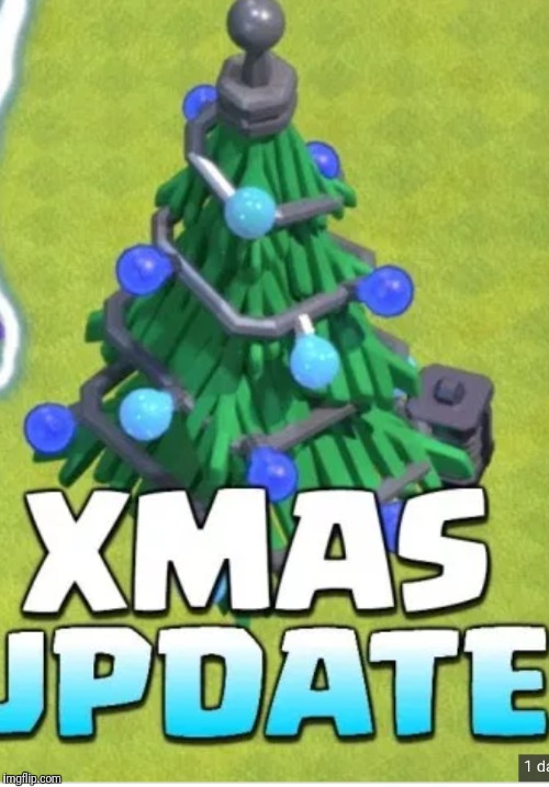 Clash of clans christmas trees