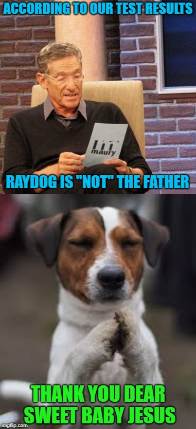 "I'm too old to be having kids now!!! | ACCORDING TO OUR TEST RESULTS RAYDOG IS ""NOT"" THE FATHER THANK YOU DEAR SWEET BABY JESUS 