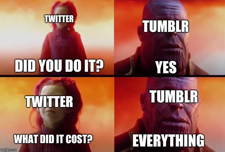 Tumblr in a nutshell - Imgflip