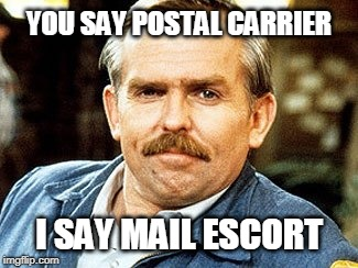Hmmm... | YOU SAY POSTAL CARRIER I SAY MAIL ESCORT | image tagged in cheers,mailman,postal carrier | made w/ Imgflip meme maker