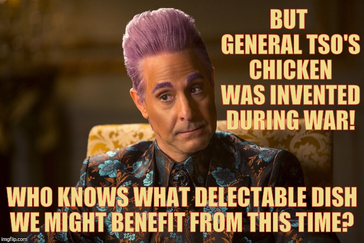 "Hunger Games /Caesar Flickerman (Tucci) ""I don't know about that 
