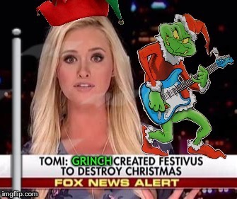 Fox news alert | image tagged in festivus,grinch,christmas memes | made w/ Imgflip meme maker