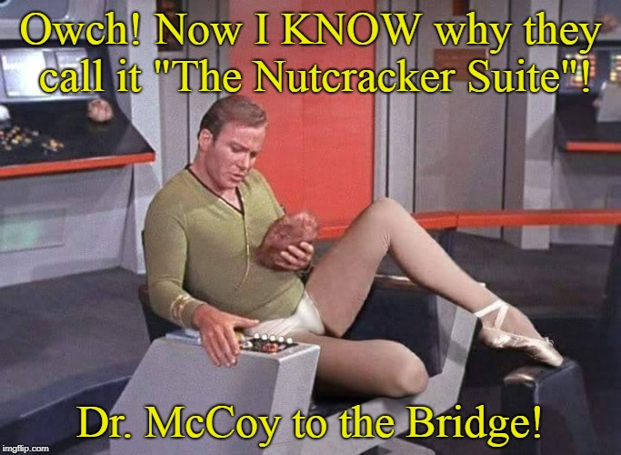 "The Nutcracker Trek | Owch! Now I KNOW why they call it ""The Nutcracker Suite""! Dr. McCoy to the Bridge! 