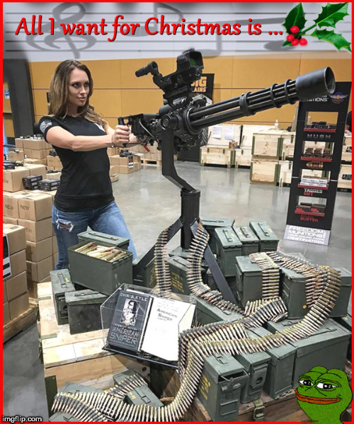 All I want for Christmas-reposted....I made this....so wake the f*ck up imgflips | image tagged in babes,girls with guns,merry christmas,2nd amendment,politics lol,lol so funny | made w/ Imgflip meme maker