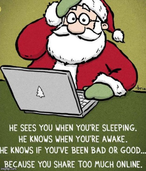 Santa is Cyber-stalking all of us | JUST | image tagged in bad santa,watching,naughty list,the most interesting man in the world,peace on earth,happy new year | made w/ Imgflip meme maker