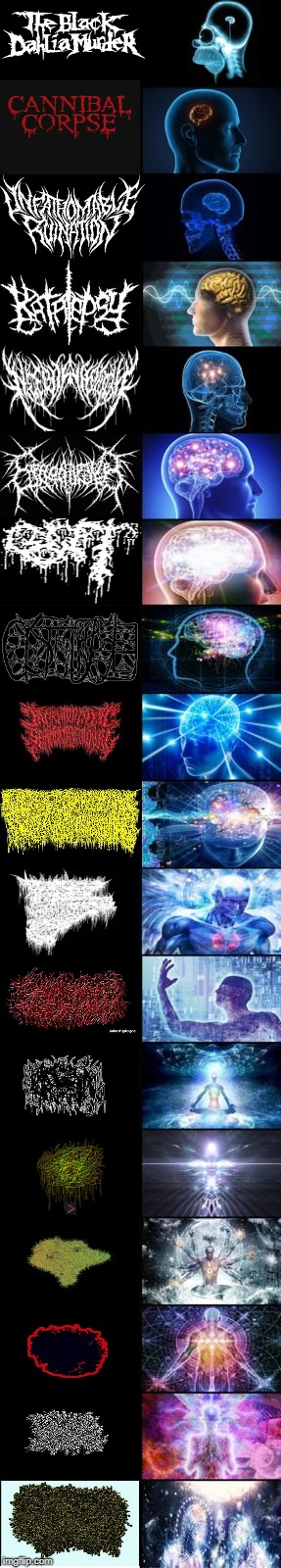 Expanding Brain longest version | image tagged in expanding brain longest version | made w/ Imgflip meme maker