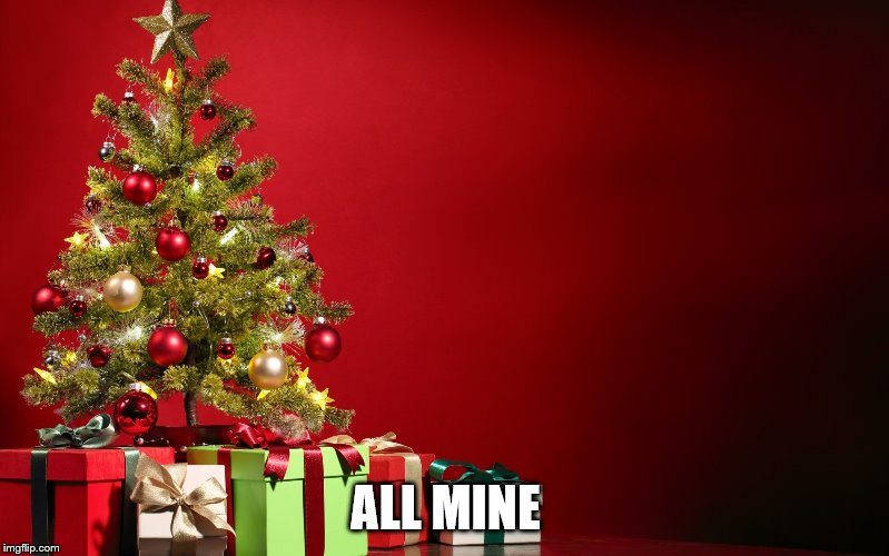 christmas present | ALL MINE | image tagged in christmas present | made w/ Imgflip meme maker