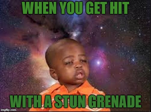 sneeze | WHEN YOU GET HIT WITH A STUN GRENADE | image tagged in sneeze | made w/ Imgflip meme maker