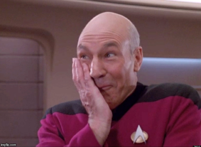 Naughty Picard | . | image tagged in naughty picard | made w/ Imgflip meme maker