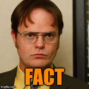 Dwight fact | FACT | image tagged in dwight fact | made w/ Imgflip meme maker
