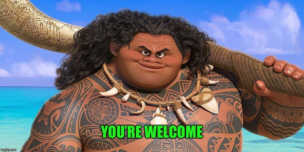 You're welcome | YOU'RE WELCOME | image tagged in youre welcome | made w/ Imgflip meme maker