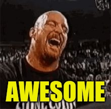 Stone Cold Laughing | AWESOME | image tagged in stone cold laughing | made w/ Imgflip meme maker