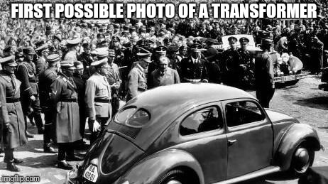 FIRST POSSIBLE PHOTO OF A TRANSFORMER | image tagged in bumblebee | made w/ Imgflip meme maker