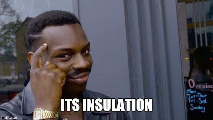 Roll Safe Think About It Meme | ITS INSULATION | image tagged in memes,roll safe think about it | made w/ Imgflip meme maker
