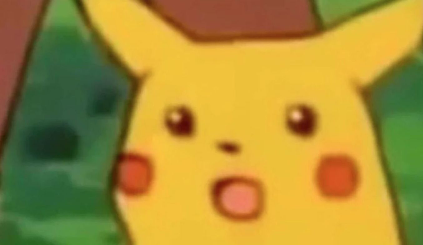 shocked pikachu Meme Template