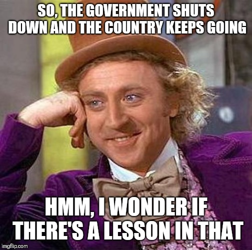 Image result for pro government shutdown memes