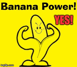 Positive Attitude | YES! | image tagged in banana,readyforaction,funforliberation | made w/ Imgflip meme maker