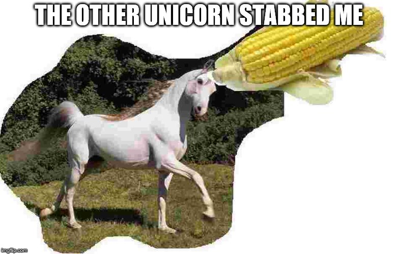 THE OTHER UNICORN STABBED ME | made w/ Imgflip meme maker