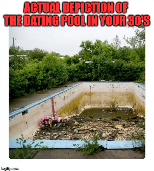 I can vouch that it indeed looks something like this. | ACTUAL DEPICTION OF THE DATING POOL IN YOUR 30'S | image tagged in memes,experience,dating,relationship,bad choices,hard times | made w/ Imgflip meme maker