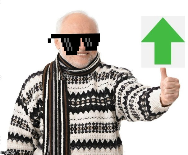 Upvote Harold | image tagged in upvote harold | made w/ Imgflip meme maker