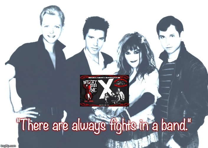 "X | ""There are always fights in a band."" 