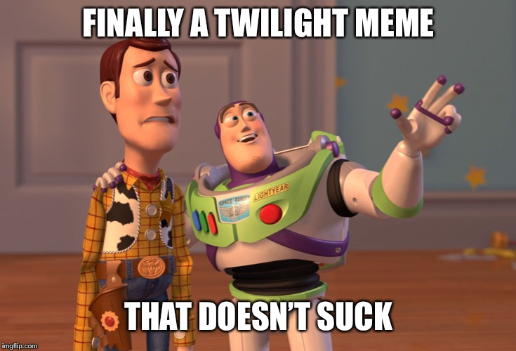 X, X Everywhere Meme | FINALLY A TWILIGHT MEME THAT DOESN'T SUCK | image tagged in memes,x x everywhere | made w/ Imgflip meme maker
