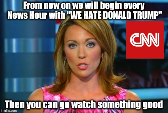 "Even when he's right , he's wrong | From now on we will begin every News Hour with ""WE HATE DONALD TRUMP"" Then you can go watch something good 