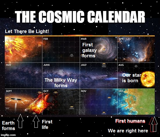 Cosmic Calendar.Mind Blown Imgflip
