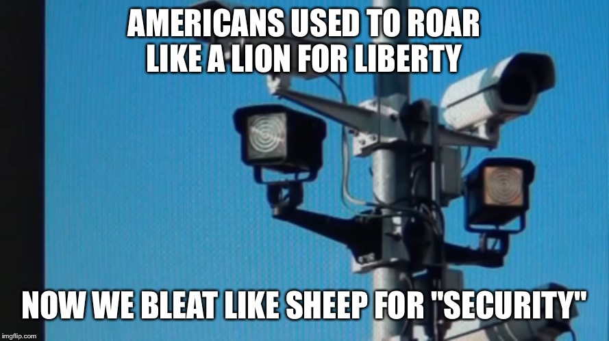"Surveillance State | AMERICANS USED TO ROAR LIKE A LION FOR LIBERTY NOW WE BLEAT LIKE SHEEP FOR ""SECURITY"" 
