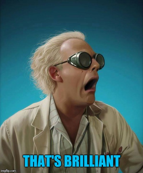 doc brown | THAT'S BRILLIANT | image tagged in doc brown | made w/ Imgflip meme maker