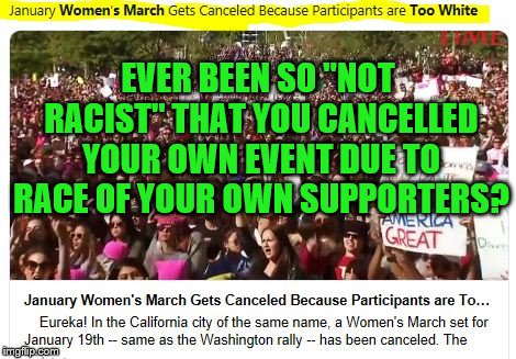 "Idiocy and racism aside, who did they expect to be there if they're hosting it in a city that's 80% white? |  EVER BEEN SO ""NOT RACIST"" THAT YOU CANCELLED YOUR OWN EVENT DUE TO RACE OF YOUR OWN SUPPORTERS? 