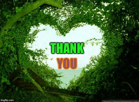 nature heart | THANK YOU | image tagged in nature heart | made w/ Imgflip meme maker