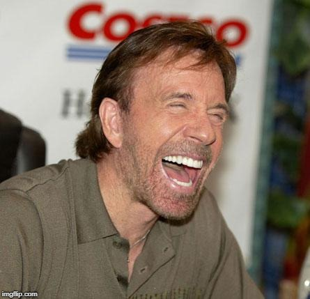 Chuck Norris Laughing Meme | . | image tagged in memes,chuck norris laughing,chuck norris | made w/ Imgflip meme maker