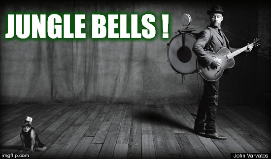DAVE SEZ JUNGLE BELLS! | JUNGLE BELLS ! | image tagged in dave matthews,dmb,monkey,jungle,christmas,jingle bells | made w/ Imgflip meme maker
