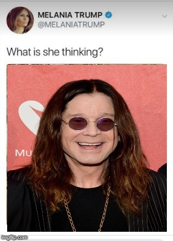 Do you see a Giraffe or a Beluga Whale in this tweet? | image tagged in ozzy,melania,anminals | made w/ Imgflip meme maker