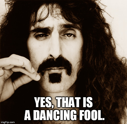 Frank Zappa | YES, THAT IS A DANCING FOOL. | image tagged in frank zappa | made w/ Imgflip meme maker