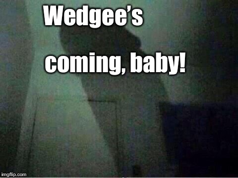 Wedgee's coming, baby! | made w/ Imgflip meme maker