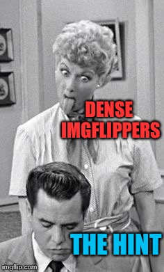 DENSE IMGFLIPPERS THE HINT | made w/ Imgflip meme maker