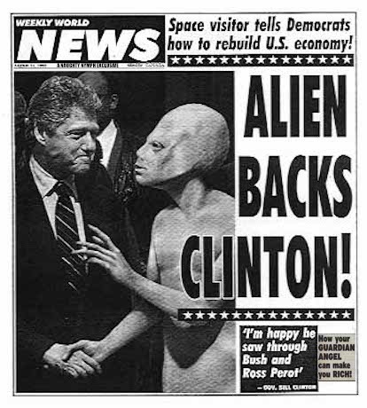 And Just Like That They Got Angry With Trump And The Russians... | A NAUGHTY NYMPH EXCLUSIVE | image tagged in aliens,bill clinton | made w/ Imgflip meme maker