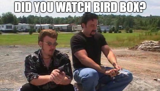 DID YOU WATCH BIRD BOX? | image tagged in bird box,trailer park boys | made w/ Imgflip meme maker