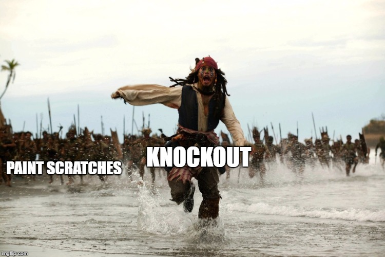 captain jack sparrow running | KNOCKOUT PAINT SCRATCHES | image tagged in captain jack sparrow running | made w/ Imgflip meme maker