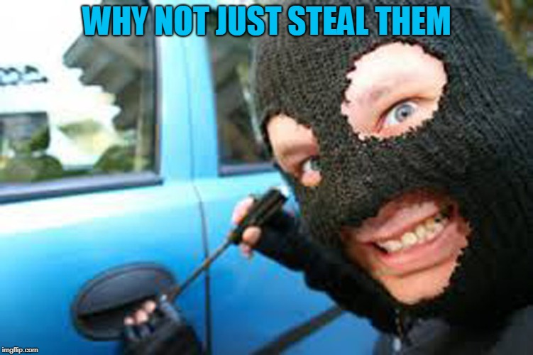 Thief | WHY NOT JUST STEAL THEM | image tagged in thief | made w/ Imgflip meme maker