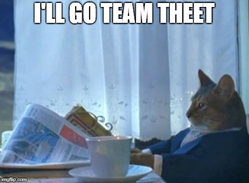 I'LL GO TEAM THEET | image tagged in memes,i should buy a boat cat | made w/ Imgflip meme maker