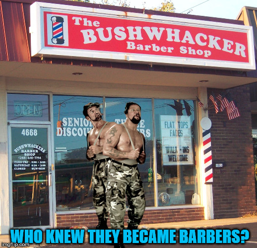 Remember them from the 1990's? | WHO KNEW THEY BECAME BARBERS? | image tagged in memes,pro wrestling,barber,haircut,funny,photoshop | made w/ Imgflip meme maker