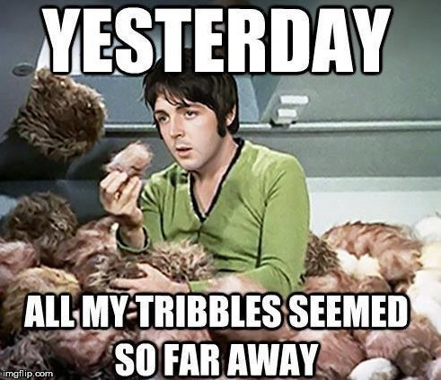 Remember when the Beatles did Star Trek? | image tagged in memes,the beatles,paul mccartney,captain kirk,star trek,funny | made w/ Imgflip meme maker