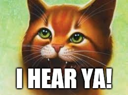 Warrior cats Firestar | I HEAR YA! | image tagged in warrior cats firestar | made w/ Imgflip meme maker
